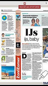Nemox ijsmachines in het Algemeen Dagblad!