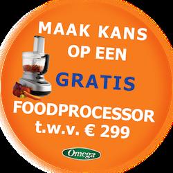 Omega Slowjuicer Nu kans op GRATIS foodprocessor